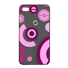 Pink Purple Abstract iPhone cases  Apple iPhone 4/4s Seamless Case (Black)