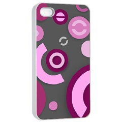 Pink Purple Abstract iPhone cases  Apple iPhone 4/4s Seamless Case (White)