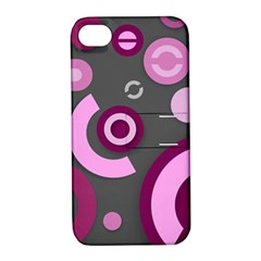 Pink Purple Abstract Iphone Cases  Apple Iphone 4/4s Hardshell Case With Stand