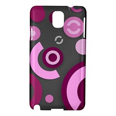 Pink Purple Abstract Iphone Cases  Samsung Galaxy Note 3 N9005 Hardshell Case