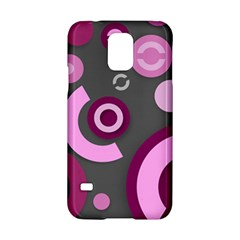 Pink Purple Abstract Iphone Cases  Samsung Galaxy S5 Hardshell Case