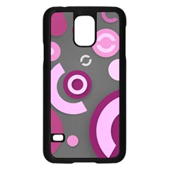Pink Purple Abstract Iphone Cases  Samsung Galaxy S5 Case (black)