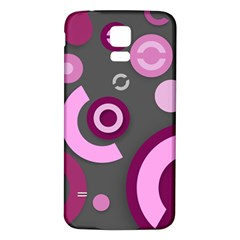 Pink Purple Abstract Iphone Cases  Samsung Galaxy S5 Back Case (white)