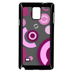 Pink Purple Abstract iPhone cases  Samsung Galaxy Note 4 Case (Black)