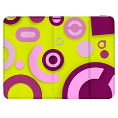 Florescent Yellow Pink Abstract  Samsung Galaxy Tab 7  P1000 Flip Case