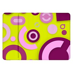 Florescent Yellow Pink Abstract  Samsung Galaxy Tab 8 9  P7300 Flip Case