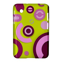Florescent Yellow Pink Abstract  Samsung Galaxy Tab 2 (7 ) P3100 Hardshell Case
