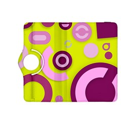 Florescent Yellow Pink Abstract  Kindle Fire Hdx 8 9  Flip 360 Case