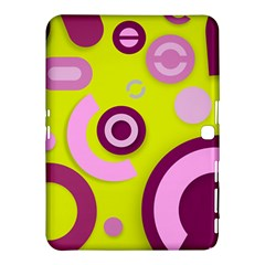 Florescent Yellow Pink Abstract  Samsung Galaxy Tab 4 (10.1 ) Hardshell Case