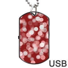 Modern Bokeh 11 Dog Tag USB Flash (One Side)