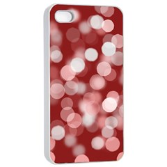 Modern Bokeh 11 Apple iPhone 4/4s Seamless Case (White)
