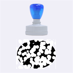 Modern Bokeh 12 Rubber Oval Stamps