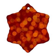 Modern Bokeh 12 Ornament (Snowflake)