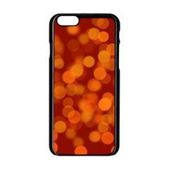 Modern Bokeh 12 Apple iPhone 6 Black Enamel Case