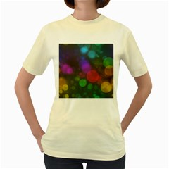 Modern Bokeh 15 Women s Yellow T Shirt