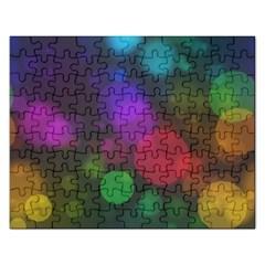 Modern Bokeh 15 Rectangular Jigsaw Puzzl