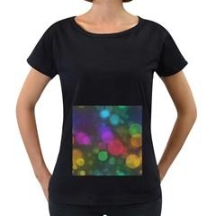 Modern Bokeh 15 Women s Loose-Fit T-Shirt (Black)
