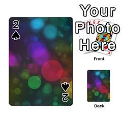 Modern Bokeh 15 Playing Cards 54 Designs