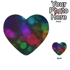 Modern Bokeh 15 Multi-purpose Cards (Heart)