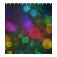 Modern Bokeh 15 Shower Curtain 66  x 72  (Large)