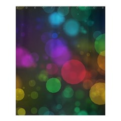 Modern Bokeh 15 Shower Curtain 60  x 72  (Medium)