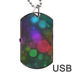 Modern Bokeh 15 Dog Tag USB Flash (One Side)