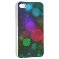 Modern Bokeh 15 Apple iPhone 4/4s Seamless Case (White)