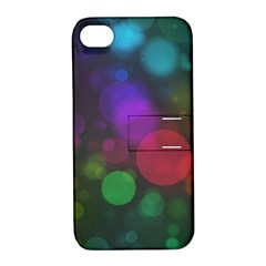 Modern Bokeh 15 Apple Iphone 4/4s Hardshell Case With Stand