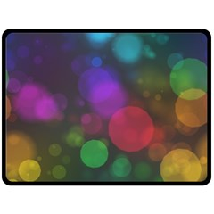 Modern Bokeh 15 Double Sided Fleece Blanket (large)