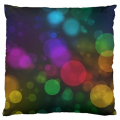 Modern Bokeh 15 Large Flano Cushion Cases (One Side)
