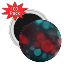Modern Bokeh 15b 2 25  Magnets (100 Pack)