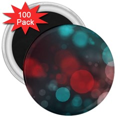 Modern Bokeh 15b 3  Magnets (100 Pack)