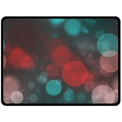 Modern Bokeh 15b Fleece Blanket (Large)