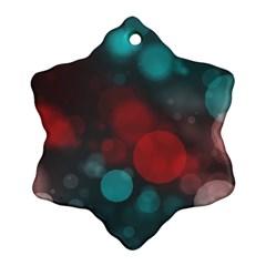 Modern Bokeh 15b Ornament (snowflake)
