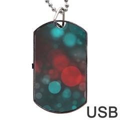 Modern Bokeh 15b Dog Tag Usb Flash (one Side)