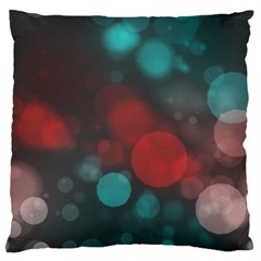 Modern Bokeh 15b Large Flano Cushion Cases (One Side)