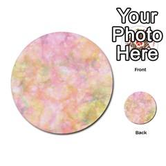 Softly Lights, Bokeh Multi Purpose Cards (round)