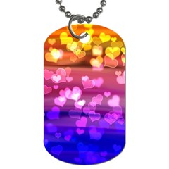 Lovely Hearts, Bokeh Dog Tag (one Side)