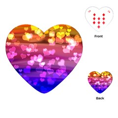 Lovely Hearts, Bokeh Playing Cards (heart)