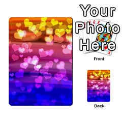 Lovely Hearts, Bokeh Multi-purpose Cards (Rectangle)