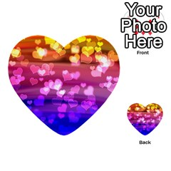 Lovely Hearts, Bokeh Multi-purpose Cards (Heart)