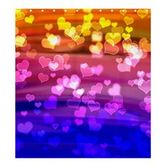 Lovely Hearts, Bokeh Shower Curtain 66  x 72  (Large)