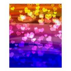 Lovely Hearts, Bokeh Shower Curtain 60  x 72  (Medium)