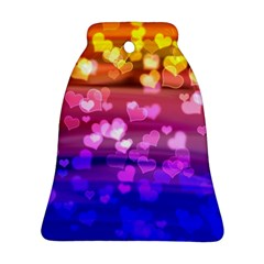 Lovely Hearts, Bokeh Bell Ornament (2 Sides)