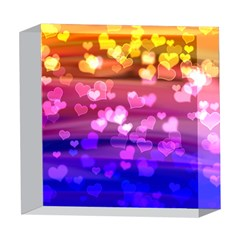 Lovely Hearts, Bokeh 5  x 5  Acrylic Photo Blocks