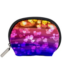 Lovely Hearts, Bokeh Accessory Pouches (small)