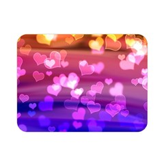 Lovely Hearts, Bokeh Double Sided Flano Blanket (mini)