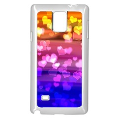 Lovely Hearts, Bokeh Samsung Galaxy Note 4 Case (White)