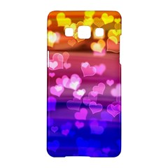 Lovely Hearts, Bokeh Samsung Galaxy A5 Hardshell Case