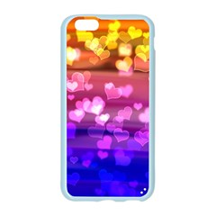 Lovely Hearts, Bokeh Apple Seamless iPhone 6 Case (Color)